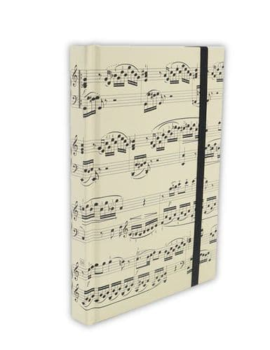 Notebook - A6 Sheet Music in Cream by AGR
