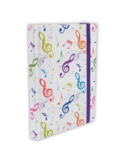 Notebook - A6 Treble Clef & Music Design by AGR