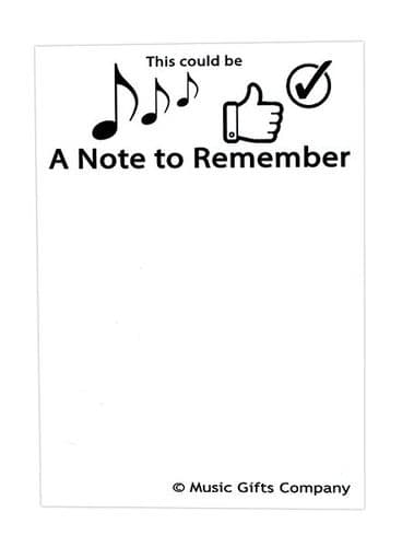 Notepad - A Note to Remember A6 by MGC