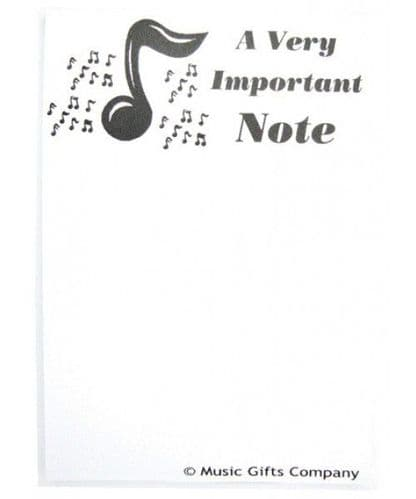 Notepad - A6 A Very Important Note by MGC