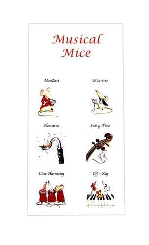 Notepad - Musical Mice by Colcards