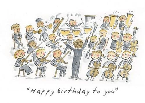 Orchestral Birthday Card by HM