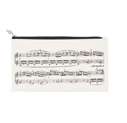 Pencil Case - Sheet Music Cream by AGR