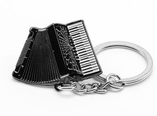 Piano Accordion Keyring by Gifticuffs