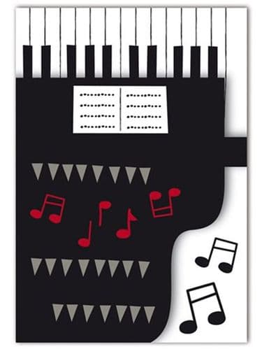 Piano Greetings Card by Quire