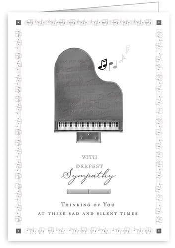 Piano Sympathy Card by Quire