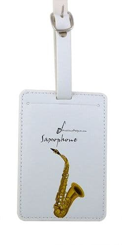 Saxophone Luggage Label by MD