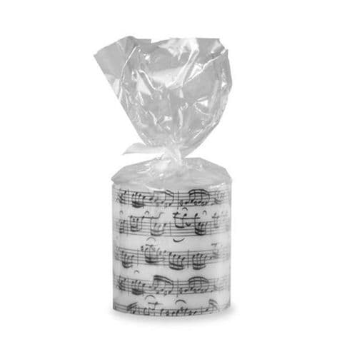 Sheet Music Round Candle by VW