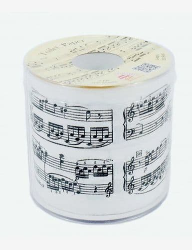 Sheet Music Toilet Roll - Novelty Music Toilet Roll | musical gifts online
