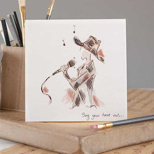Sing Your Heart Out Greetings Card by Claire Louise