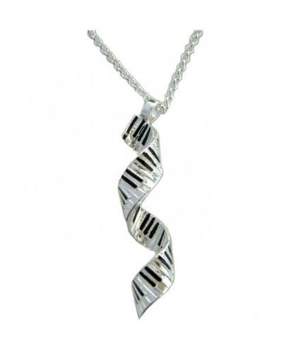Spiral Keyboard Pendant - Silver-Plated by MGC