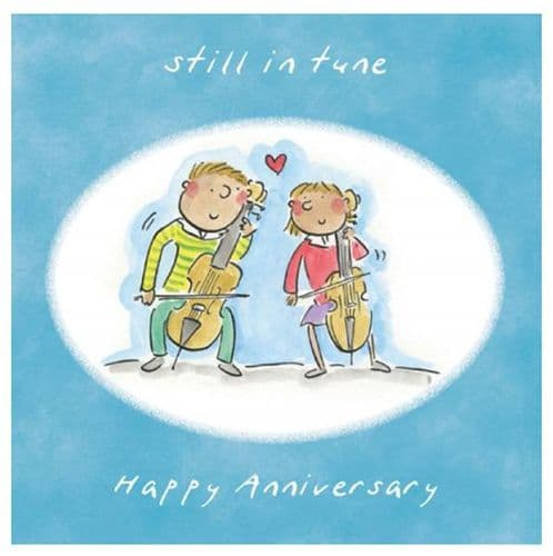 Still In Tune Anniversary Card by HM