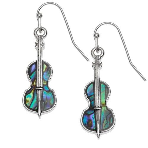 String Instrument Paua Earrings by Tide Jewellery