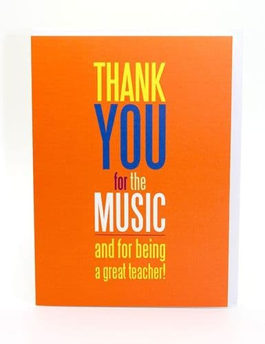 Thank You For The Music Card by My World