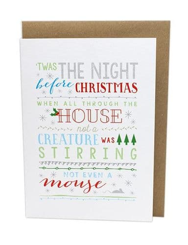 The Night Before Christmas Card by MS