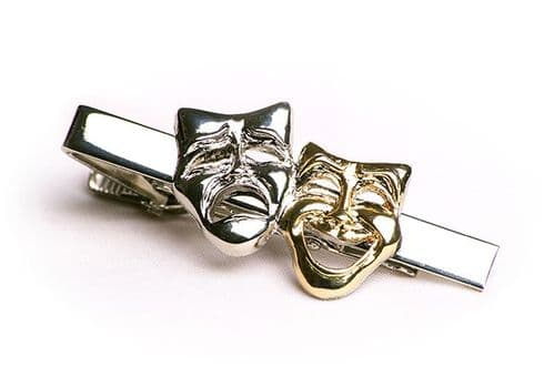 Theatre Comedy Mask Tie Clip by Gifticuffs