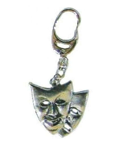 Theatre Masks Pewter Keyring by MGC