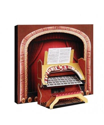 Theatre Organ 3D Card by MGC