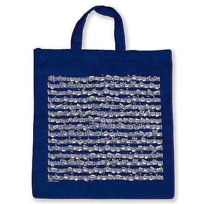 Tote Bag - Music Design in Blue by VG