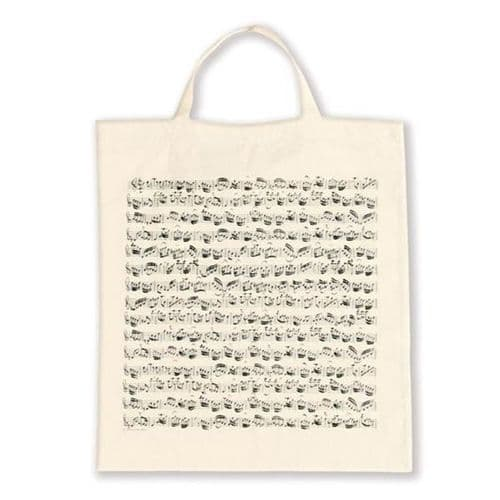 Tote Bag - Music Design in Cream by VW