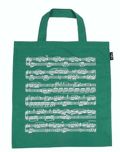 Tote Bag - Music Design in Green by AGR