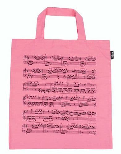 Tote Bag - Music Design in Pink by AGR