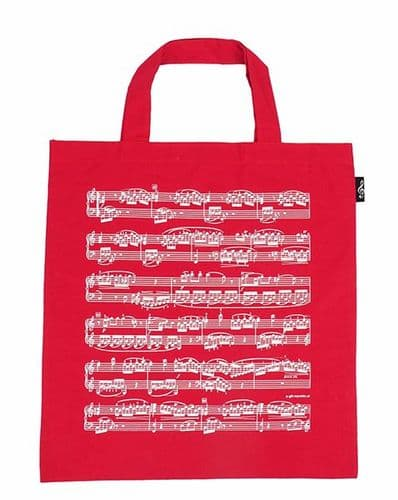 Tote Bag - Music Design in Red by AGR
