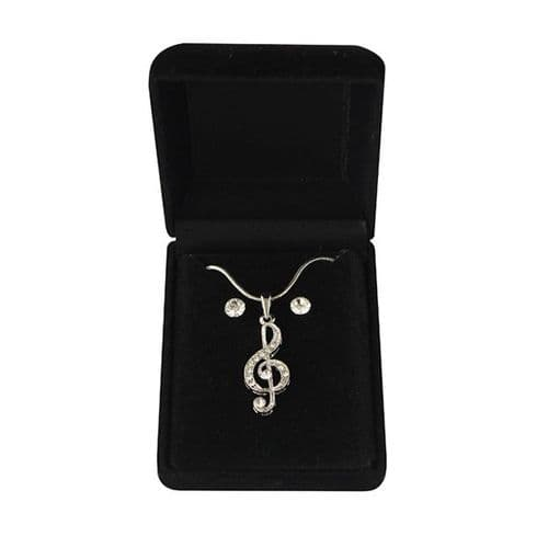 Treble Clef Necklace & Earrings by Mygifts