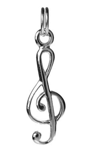 Treble Clef Pendant in Sterling Silver with Chain | musical gifts online