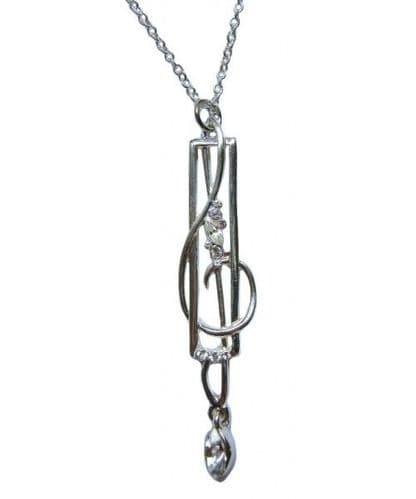 Treble Clef Silver-Plated Pendant by MGC