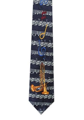 Trumpet and Bugle Tie by Tie Studio