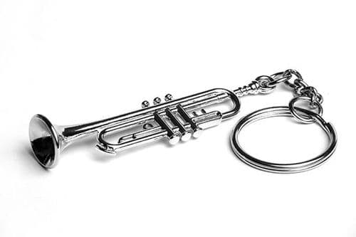 Trumpet Keyring by Gifticuffs