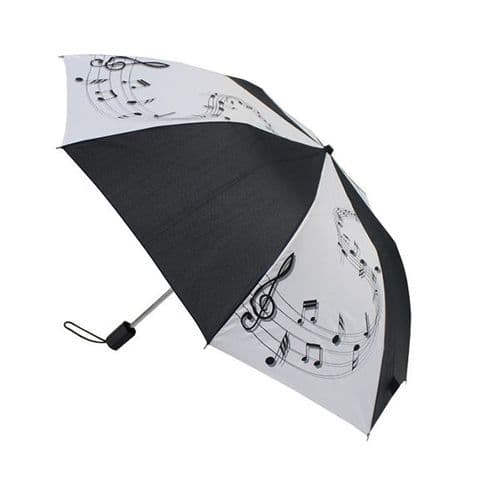 Umbrella - Compact - Music Notes by Mygifts