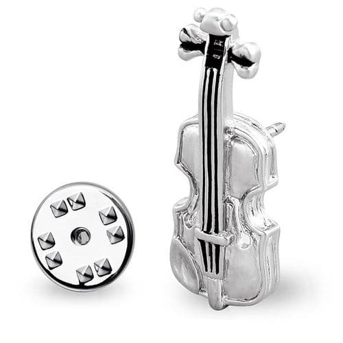 Violin Lapel Pin By Onyx Art