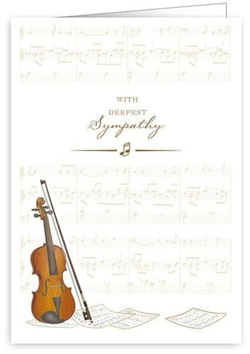 Violin Sympathy Card by Quire