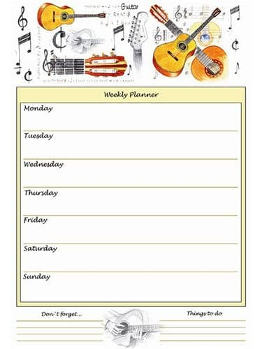 Weekly Planner - Acoustic Guitar by Little Snoring