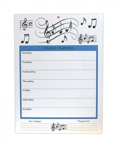 Weekly Planner - Musical Notes by Little Snoring