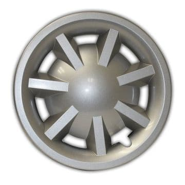 """8"""" Metallic Silver Hubcap Assembly for RXV (No Logo) (OEM)"""