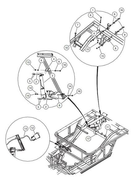 Club Car, Actuator Assembly, electric (OEM)