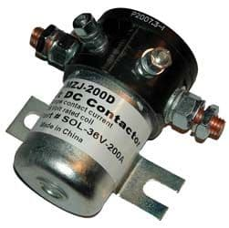 EZGO, Solenoid 36v, 4 terminal with silver oxide contacts 200 amp