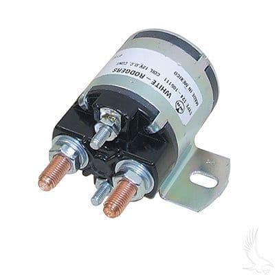 Yamaha, Solenoid 12v, 4 terminal, #586 series solenoid with silver contacts