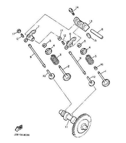 Yamaha, Support rocker arm