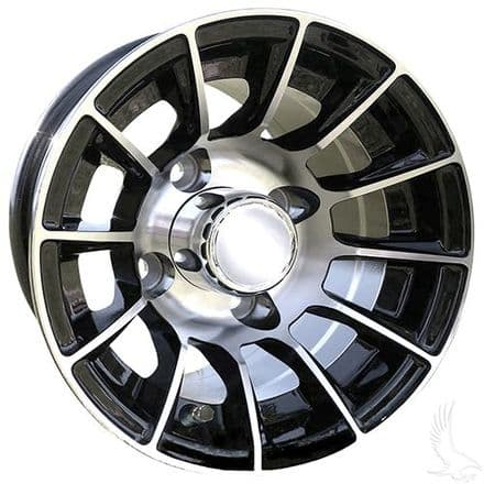 AC558, Machined Gloss Black, 10x7 ET 15.5