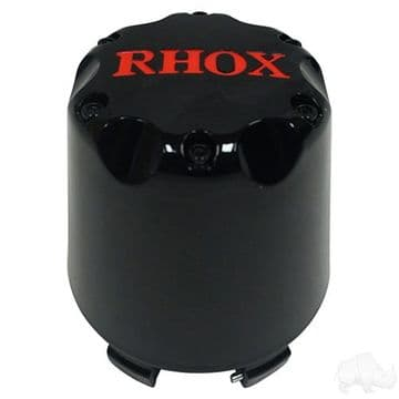 Center Cap, Black with Red RHOX