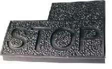 """Club Car, DS Brake Pedal Pad with """"STOP"""""""
