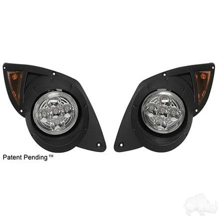 LED Factory Style Headlights with Bezels, Yamaha Drive 07-16
