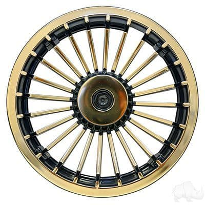 "Wheel Cover, 8"" Turbine Black/Gold (Set of 4 Trims)"