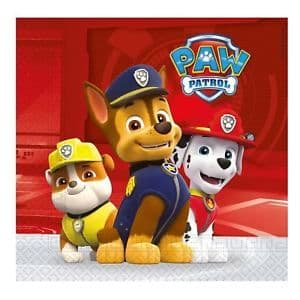 Paw Patrol Napkins 20 Pk Paper Party