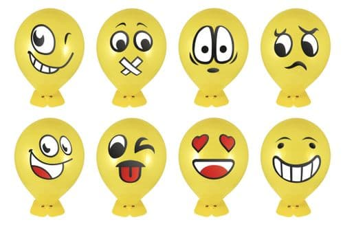 1 Smiley Head Balloon Kit