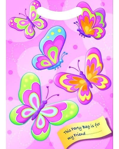 100 Butterfly Party Bags Wholesale